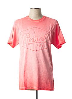 T-shirt manches courtes rose PETROL INDUSTRIES pour homme
