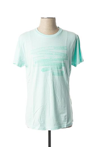 T-shirt manches courtes bleu NO EXCESS pour homme