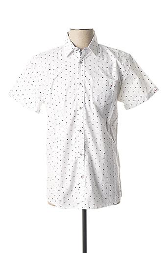 Chemise manches courtes blanc NO EXCESS pour homme