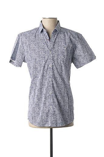 Chemise manches courtes bleu NO EXCESS pour homme