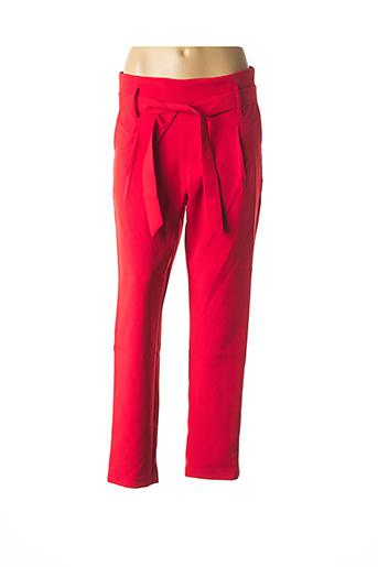 Pantalon casual rouge CHATTAWAK pour femme