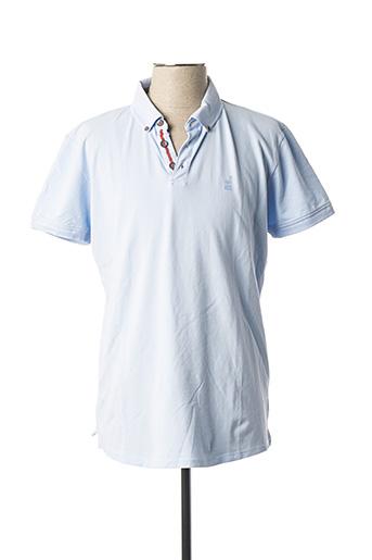 Polo manches courtes bleu NO EXCESS pour homme