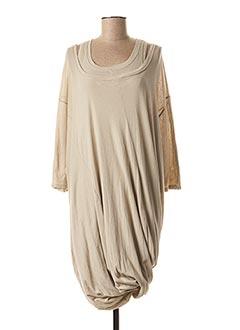 Robe mi-longue beige BLACK LABEL pour femme