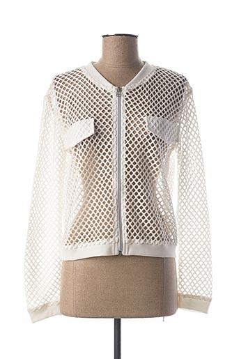 Veste casual blanc MIA SOANA pour femme