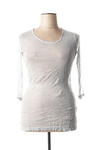 T-shirt manches longues bleu LAUREN VIDAL pour femme