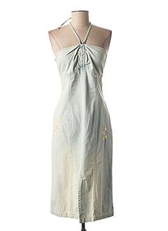Robe mi-longue bleu GUESS JEANS pour femme