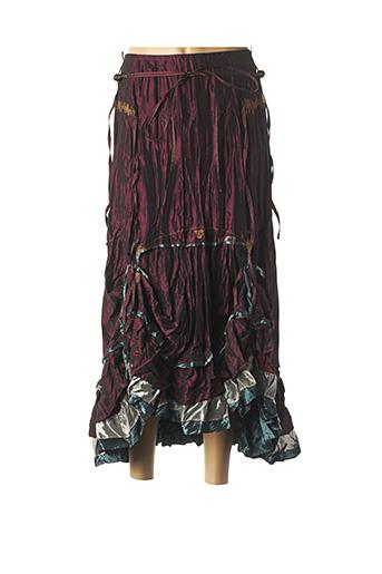 Jupe longue rouge BAI AMOUR pour femme