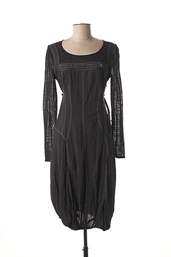 Robe mi-longue noir BAI AMOUR pour femme