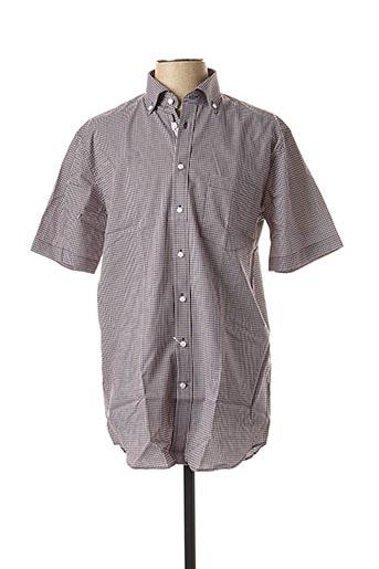 Chemise manches courtes noir SEIDEN STICKER pour homme