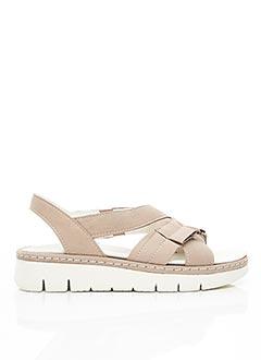 Sandales/Nu pieds beige BRAKO pour femme