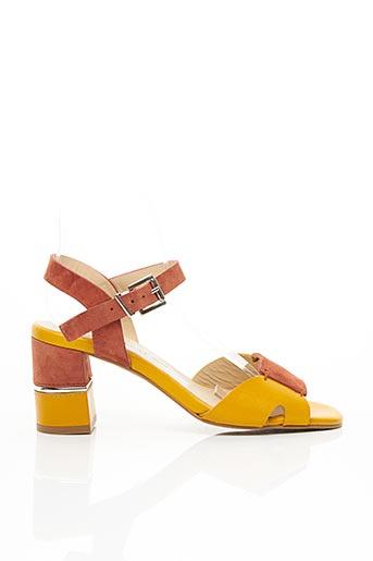 Sandales/Nu pieds jaune CARDENAL pour femme