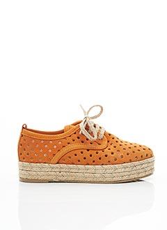 Espadrilles orange MKD pour femme
