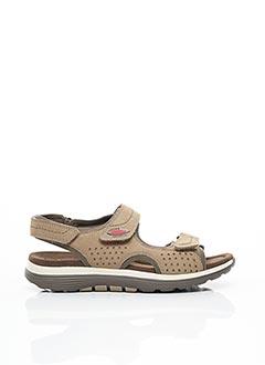 Sandales/Nu pieds beige GABOR pour homme