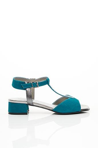 Sandales/Nu pieds bleu BRENDA ZARO pour femme