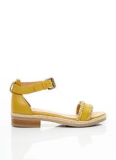 Sandales/Nu pieds jaune MINKA DESIGN pour femme