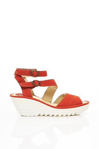 Sandales/Nu pieds orange FLY LONDON pour femme