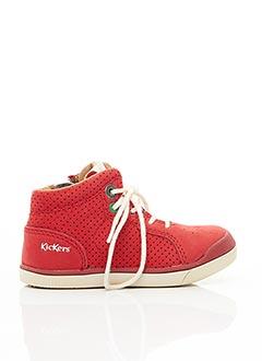 Bottines/Boots rouge KICKERS pour enfant