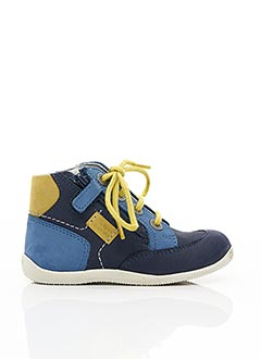 Bottines/Boots bleu KICKERS pour garçon