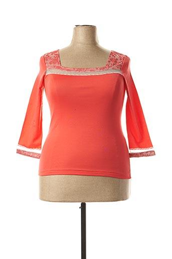 T-shirt manches longues rouge ARTIMAGLIA pour femme