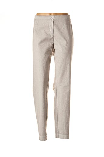 Pantalon casual beige ADELINA BY SCHEITER pour femme