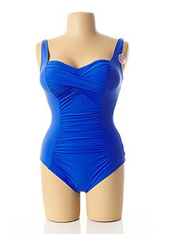 Maillot de bain 1 pièce bleu ANITA pour femme