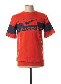 Sweat-shirt orange HIMSPIRE pour homme