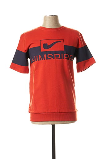 Sweat-shirt orange HIMSPIRE pour homme