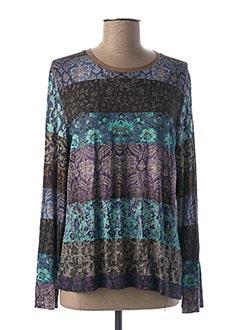 T-shirt manches longues bleu THALASSA pour femme