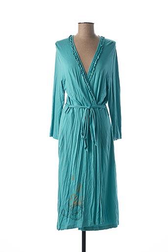 Robe de chambre bleu EGATEX pour femme