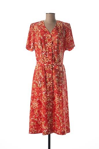 Robe longue orange FRANCOISE DE FRANCE pour femme