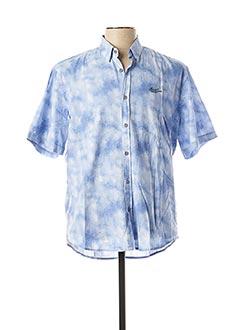 Chemise manches courtes bleu MONTE CARLO pour homme