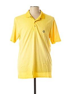 Polo manches courtes jaune MONTE CARLO pour homme