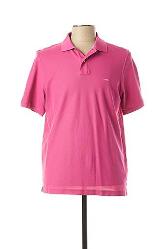 Polo manches courtes rose FYNCH-HATTON pour homme