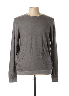 Pull col rond gris MONTE CARLO pour homme