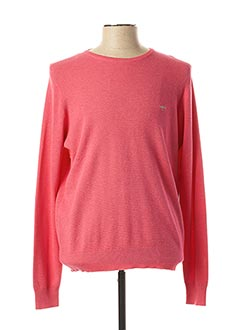 Pull col rond rose FYNCH-HATTON pour homme