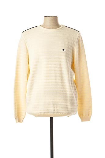Pull col rond beige FYNCH-HATTON pour homme