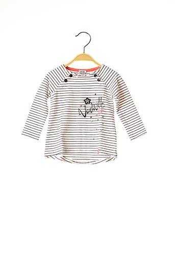 T-shirt manches longues noir NANO & NANETTE pour fille