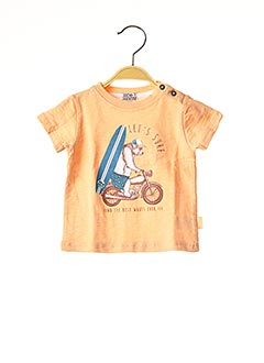 T-shirt manches courtes orange NANO & NANETTE pour garçon