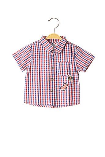 Chemise manches courtes rouge NANO & NANETTE pour garçon