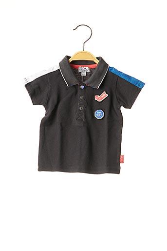 Polo manches courtes noir NANO & NANETTE pour garçon