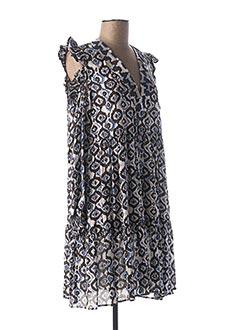Robe mi-longue bleu LAUREN VIDAL pour femme
