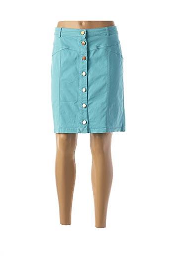 Jupe courte bleu RIVIERES DE LUNE pour femme