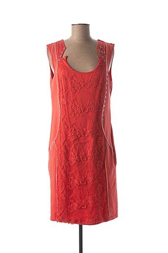 Robe mi-longue orange ELISA CAVALETTI pour femme