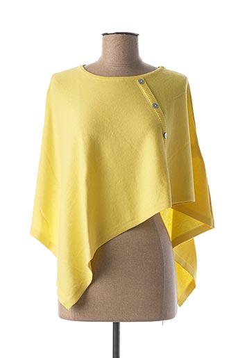 Poncho jaune MARBLE pour femme