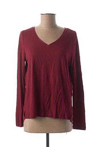 T-shirt manches longues rouge S.OLIVER pour femme