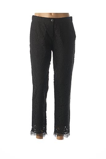 Pantalon 7/8 noir ESQUALO pour femme