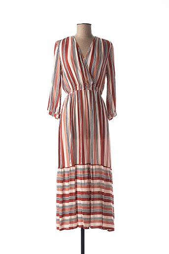 Robe longue orange AN' GE pour femme