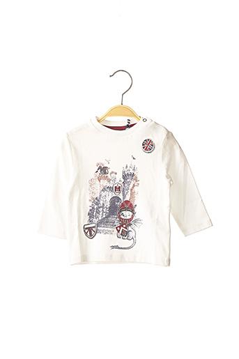 T-shirt manches longues blanc 3 POMMES pour enfant