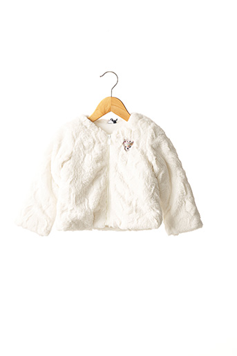 Manteau court blanc 3 POMMES pour fille