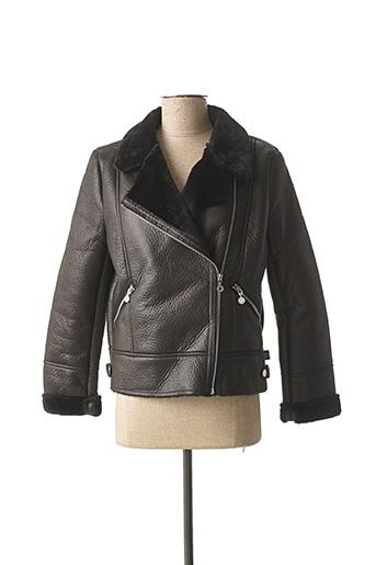 Manteau court noir LE TEMPS DES CERISES pour fille